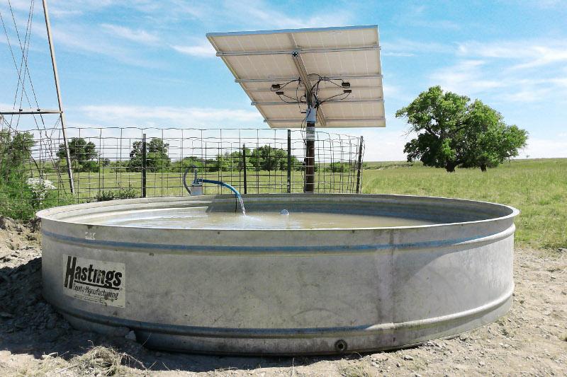 Bombeo solar  aguada para animales